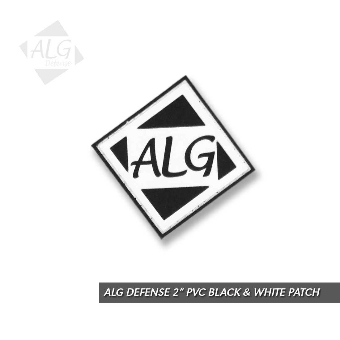"ALG Defense 2"" Black & White Patch (PVC)"