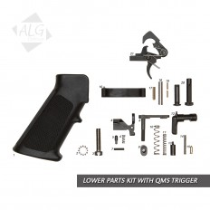 Complete AR15/M4 Mil-Spec Lower Parts Kit with QMS Trigger (With Grip)
