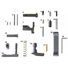 AR15/M4 Mil-Spec Lower Parts Kit (Less Trigger, Less Grip)